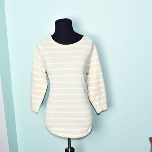 Beautiful Cream and White Striped Top